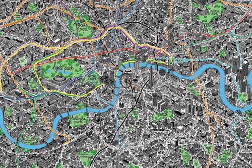 Cartina Di Londra Monumenti.La Mappa Di Londra Rivisitata Da Jenni Sparks Viaggi Di Surus