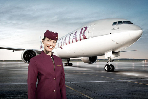 Qatar Airways Hostess